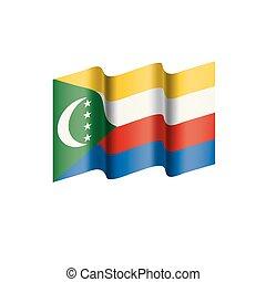 Comoros flag, vector illustration on a white background