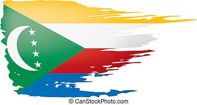 Comoros flag, vector illustration on a white background. -...