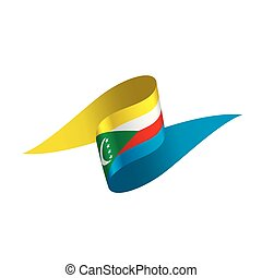 Comoros flag, vector illustration on a white background