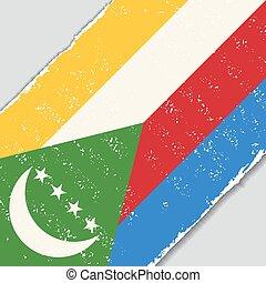 Comoros grunge flag illustration. - Comoros grunge flag...