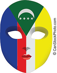 Comoros mask - Classic mask with symbols of statehood of...