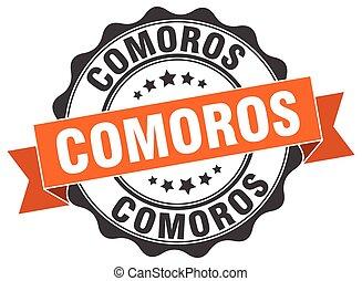 Comoros round ribbon seal