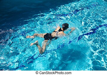 compétitif, nageur