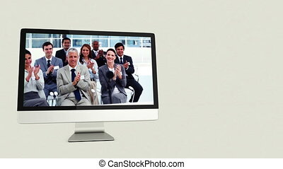 comp, business, vidéos, gens