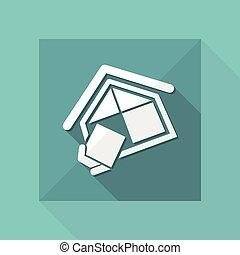 compañía, construcción, símbolo