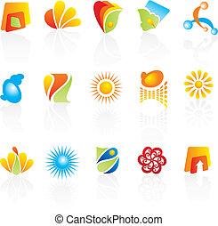 compañía, logotipos, diseño