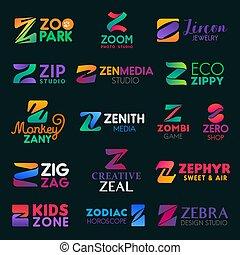 compañía, z, cartas, empresa / negocio, identidad