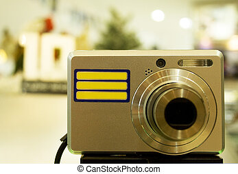 Compact Camera - Image of a compact camera on display in a ...