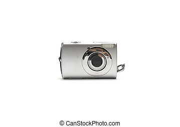compact camera isolated on white background