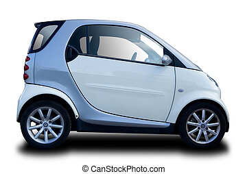 Compact Car Isolated on White