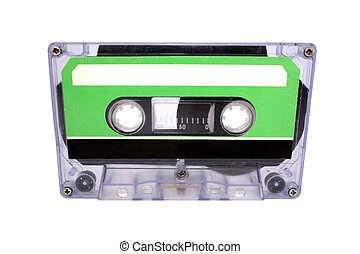 Compact Cassette isolated. Front view