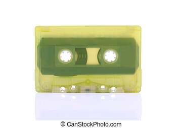 Compact Cassette isolated on white.