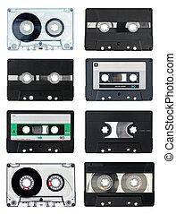 compact, cassettes