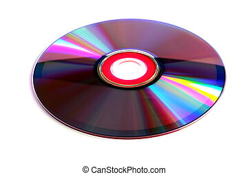 Compact disc CD (back reflecting surface) isolated on white background