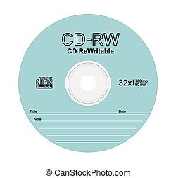 Compact disc - Vector illustration of compact disc on white...