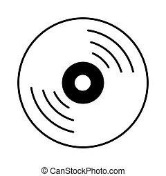 compact disc isolated icon