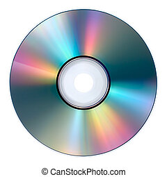 compact disc - media disc isolated against white background