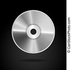 compact disc over black background vector illustration