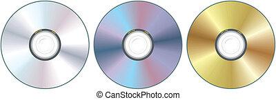 compact disc, tre