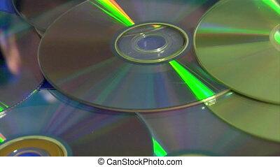 compact discs falling dawn
