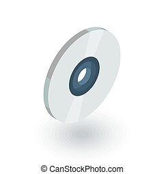 compact disk, CD isometric flat icon. 3d vector