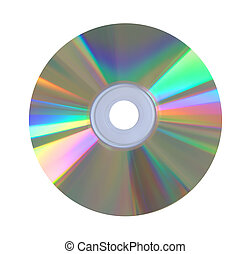 Compact disk isolated over white