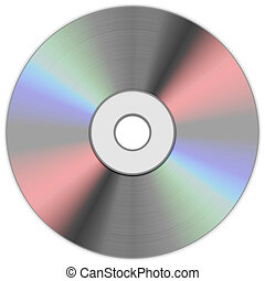 compact disk on white background