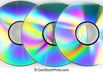Compact disks - Close up of CDs on white background