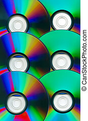compact disks on a white as a background