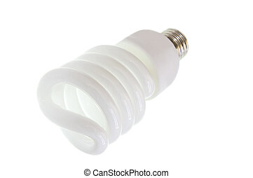 Compact Florescent Lamp on White