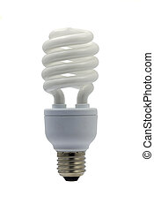 light bulb - compact fluorescent efficient power saving ...