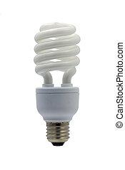light bulb - compact fluorescent efficient power saving ...