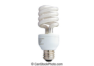 Compact Fluorescent light bulb, isolated on white
