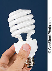 Compact Fluorescent Lightbulb clsoe up