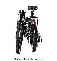 compact folding bike in black