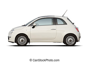 Compact hatchback - White retro style compact hatchback