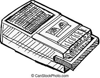 compact, registreerapparaat, cassette