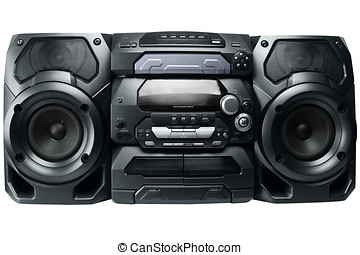 Compact stereo system cd and cassette player with radio...