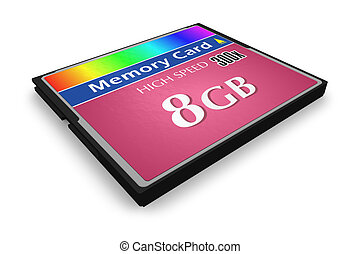 CompactFlash memory card