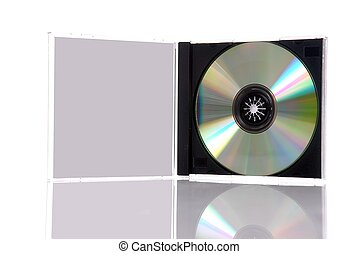 compacto, caja, disco