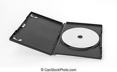 compacto, cubierta, disco, plano de fondo, blanco, blanco