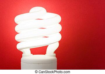 compacto, fluorescente, bombilla
