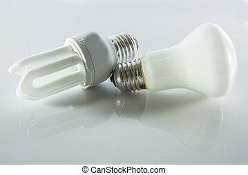 compacto, fluorescente, lámparas
