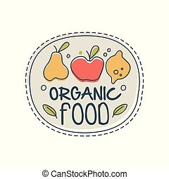 compagnie, écologie, logo, gabarit, magasin, étiquette, nourriture, café, dessiné, blanc, agriculture, eco, vegan, main, produits, illustration, fond, organique, magasin, marché, naturel, sain, végétarien, vecteur