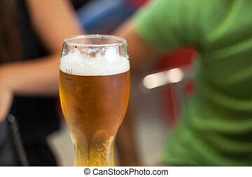compagnie, boisson, amis, bière
