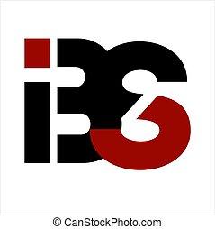 compagnie, bs, lettre, logo, ibs, bis, initiales