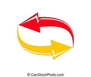 compagnie, business, échange, simple, idée, logotype, conception, logo