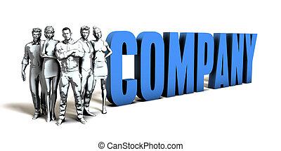 compagnie, concept affaires