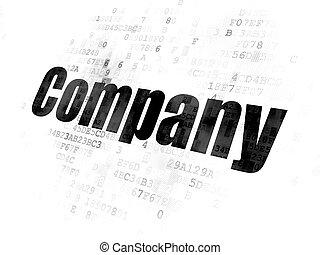 compagnie, concept:, finance, fond, numérique