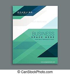 compagnie, couverture, magazine, conception, brochure, page